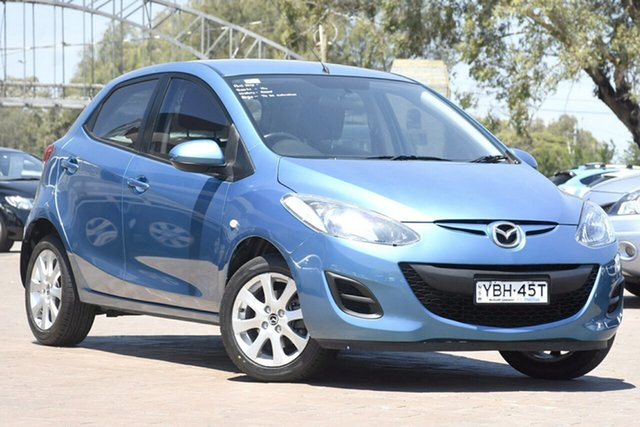 Used Mazda 2 DE10Y2 MY12 Neo, 2012 Mazda 2 DE10Y2 MY12 Neo Aquatic Blue 4 Speed Automatic Hatchback