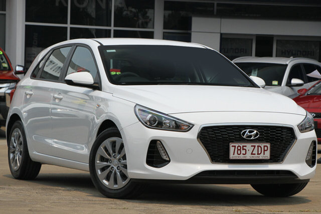 Demo Hyundai i30 PD MY19 Go, 2018 Hyundai i30 PD MY19 Go Polar White 6 Speed Sports Automatic Hatchback