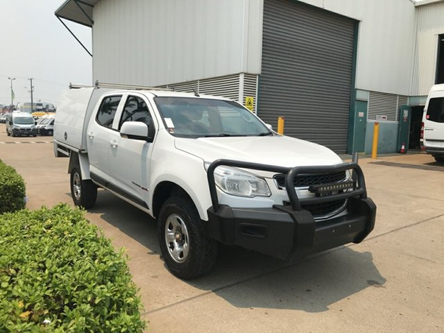 Used Holden Colorado RG MY15 LS Crew Cab, 2015 Holden Colorado RG MY15 LS Crew Cab White 6 Speed Sports Automatic Cab Chassis