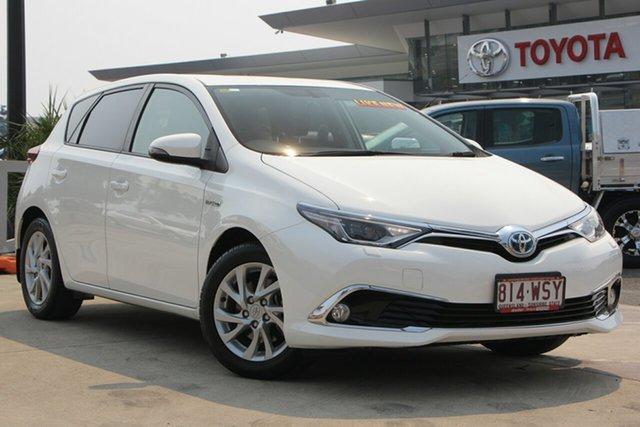Used Toyota Corolla ZWE186R Hybrid E-CVT, 2016 Toyota Corolla ZWE186R Hybrid E-CVT Glacier White Constant Variable Hatchback Hybrid