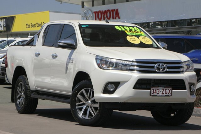 Used Toyota Hilux GUN126R SR5 Double Cab, 2015 Toyota Hilux GUN126R SR5 Double Cab Crystal Pearl 6 Speed Sports Automatic Utility