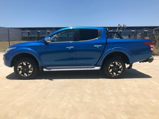 2018 Mitsubishi Triton MQ MY18 Exceed Double Cab Blue 5 Speed Sports Automatic Utility