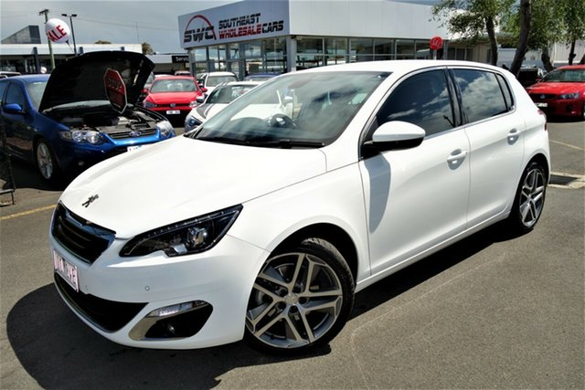 Used Peugeot 308 T9 Allure, 2014 Peugeot 308 T9 Allure White 6 Speed Sports Automatic Hatchback