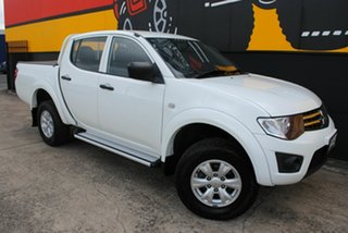 2013 Mitsubishi Triton MN MY13 GLX Double Cab Polar White 4 Speed Sports Automatic Utility.