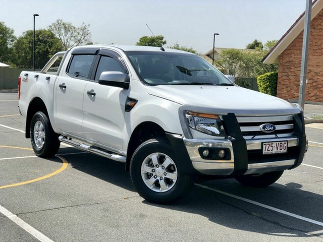 Used Ford Ranger PX XLS Double Cab, 2014 Ford Ranger PX XLS Double Cab White 6 Speed Sports Automatic Utility
