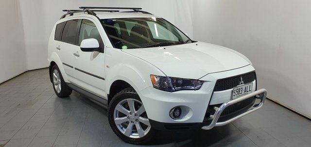 Used Mitsubishi Outlander ZH MY11 VR, 2011 Mitsubishi Outlander ZH MY11 VR White 6 Speed Sports Automatic Wagon
