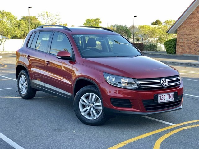 Used Volkswagen Tiguan 5N MY14 118TSI DSG 2WD, 2013 Volkswagen Tiguan 5N MY14 118TSI DSG 2WD Maroon 6 Speed Sports Automatic Dual Clutch Wagon
