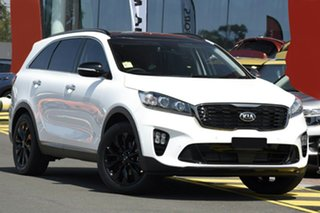 2019 Kia Sorento UM MY20 Black Edition AWD Snow White Pearl 8 Speed Sports Automatic Wagon.