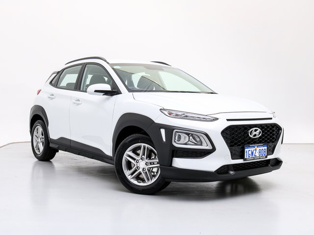 Demo Hyundai Kona OS.2 MY19 Active (AWD), 2019 Hyundai Kona OS.2 MY19 Active (AWD) Chalk White 7 Speed Auto Dual Clutch Wagon