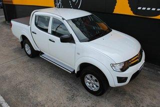 2013 Mitsubishi Triton MN MY13 GLX Double Cab Polar White 4 Speed Sports Automatic Utility