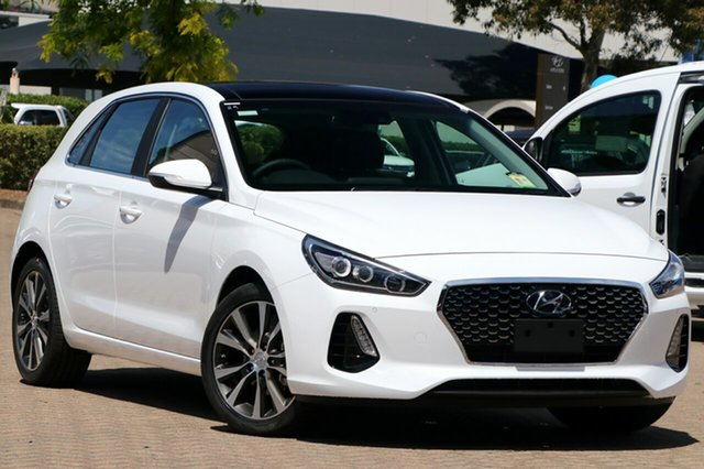 New Hyundai i30 PD2 MY19 Premium, 2019 Hyundai i30 PD2 MY19 Premium Polar White 6 Speed Sports Automatic Hatchback