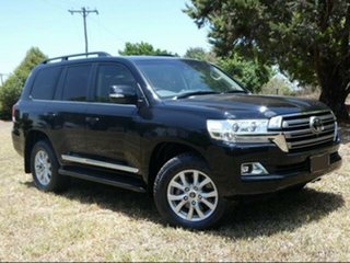 2016 Toyota Landcruiser VDJ200R MY16 Sahara (4x4) Eclipse Black 6 Speed Automatic Wagon