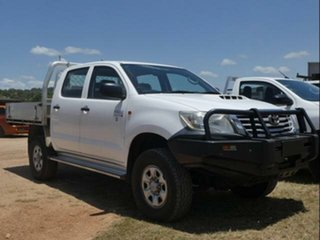 2011 Toyota Hilux KUN26R MY12 Workmate (4x4) Glacier White 4 Speed Automatic Dual Cab Pick-up.