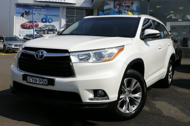 Used Toyota Kluger GSU55R GXL AWD, 2015 Toyota Kluger GSU55R GXL AWD Pearl White 6 Speed Sports Automatic Wagon