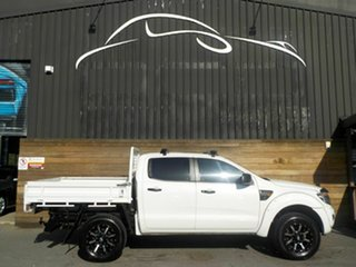 2012 Ford Ranger PX XL Double Cab White 6 Speed Sports Automatic Cab Chassis.