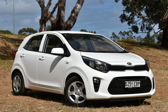 Demo Kia Picanto JA MY19 S, 2019 Kia Picanto JA MY19 S Clear White 4 Speed Automatic Hatchback