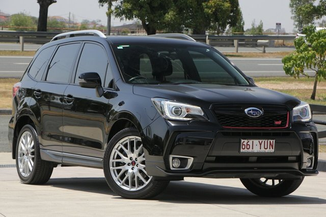 Used Subaru Forester S4 MY16 tS CVT AWD, 2016 Subaru Forester S4 MY16 tS CVT AWD Black 8 Speed Constant Variable Wagon