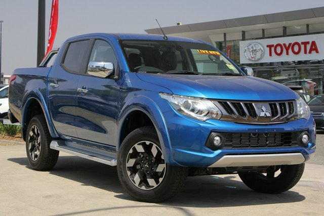 Used Mitsubishi Triton MQ MY18 Exceed Double Cab, 2018 Mitsubishi Triton MQ MY18 Exceed Double Cab Blue 5 Speed Sports Automatic Utility