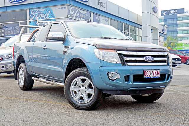 Used Ford Ranger PX XLT Super Cab, 2015 Ford Ranger PX XLT Super Cab Blue 6 Speed Manual Utility
