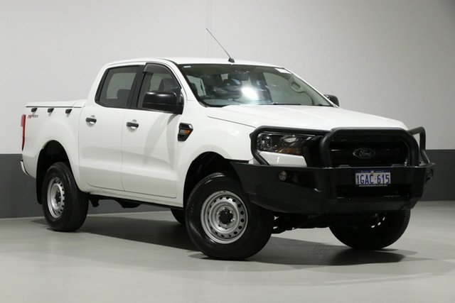 Used Ford Ranger PX MkII XL 2.2 Hi-Rider (4x2), 2016 Ford Ranger PX MkII XL 2.2 Hi-Rider (4x2) White 6 Speed Automatic Crew Cab Pickup