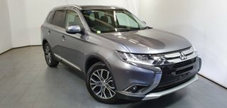 2015 Mitsubishi Outlander ZK MY16 XLS 2WD Grey 6 Speed Constant Variable Wagon.