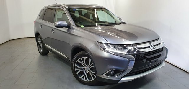 Used Mitsubishi Outlander ZK MY16 XLS 2WD, 2015 Mitsubishi Outlander ZK MY16 XLS 2WD Grey 6 Speed Constant Variable Wagon