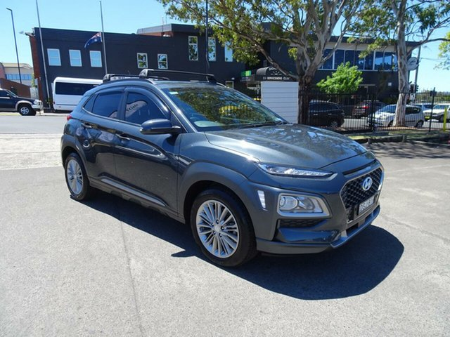 Used Hyundai Kona OS MY18 Elite D-CT AWD, 2017 Hyundai Kona OS MY18 Elite D-CT AWD Grey 7 Speed Sports Automatic Dual Clutch Wagon