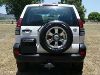 2008 Toyota Landcruiser Prado KDJ120R 07 Upgrade Standard (4x4) Powder White 6 Speed Manual Wagon