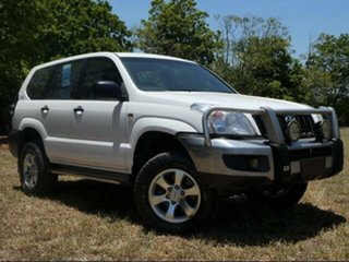 2008 Toyota Landcruiser Prado KDJ120R 07 Upgrade Standard (4x4) Powder White 6 Speed Manual Wagon.
