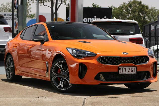 Used Kia Stinger CK MY19 GT Fastback, 2019 Kia Stinger CK MY19 GT Fastback Neon Orange 8 Speed Sports Automatic Sedan