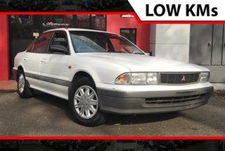 1993 Mitsubishi Magna TR Executive White 4 Speed Automatic Sedan.