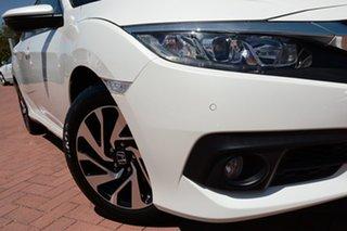 2019 Honda Civic 10th Gen MY18 VTi-S White Orchid 1 Speed Constant Variable Sedan.