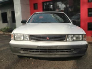 1993 Mitsubishi Magna TR Executive White 4 Speed Automatic Sedan.