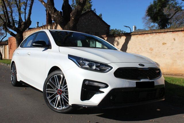 Demo Kia Cerato BD MY20 GT DCT, 2019 Kia Cerato BD MY20 GT DCT Clear White 7 Speed Sports Automatic Dual Clutch Hatchback