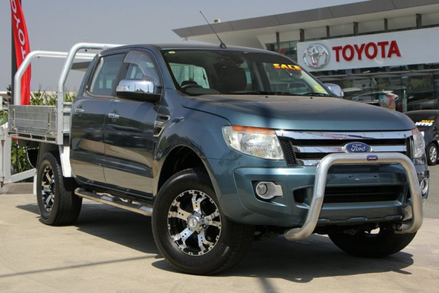 Used Ford Ranger PX XLT Double Cab, 2012 Ford Ranger PX XLT Double Cab Blue 6 Speed Automatic Dual Cab Utility