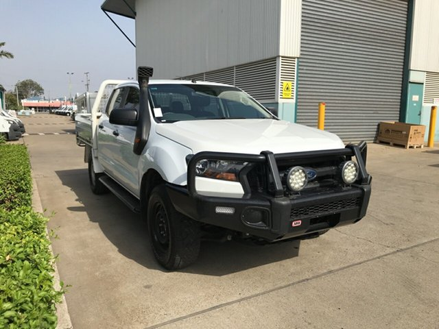 Used Ford Ranger PX MkII XL Double Cab, 2017 Ford Ranger PX MkII XL Double Cab Cool White 6 speed Automatic Cab Chassis
