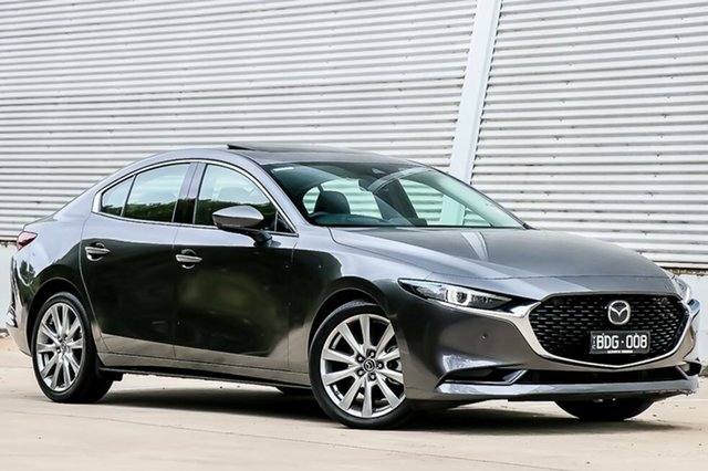 Demo Mazda 3 BP2SLA G25 SKYACTIV-Drive Astina, 2019 Mazda 3 BP2SLA G25 SKYACTIV-Drive Astina Machine Grey 6 Speed Sports Automatic Sedan