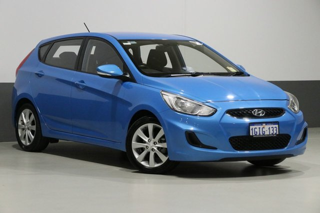 Used Hyundai Accent RB6 MY18 Sport, 2017 Hyundai Accent RB6 MY18 Sport Blue 6 Speed Automatic Sedan