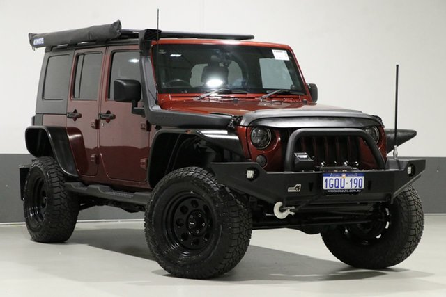 Used Jeep Wrangler Unlimited JK MY09 Sport (4x4), 2010 Jeep Wrangler Unlimited JK MY09 Sport (4x4) Red 4 Speed Automatic Softtop