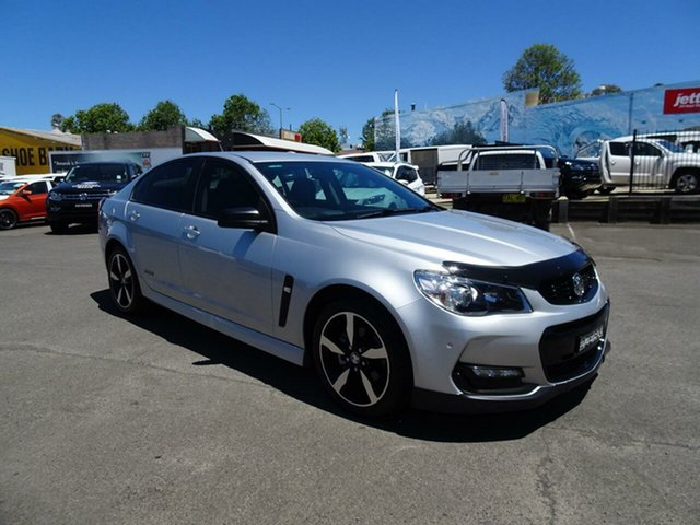 Used Holden Commodore VF II MY16 SV6 Black, 2016 Holden Commodore VF II MY16 SV6 Black Silver 6 Speed Sports Automatic Sedan