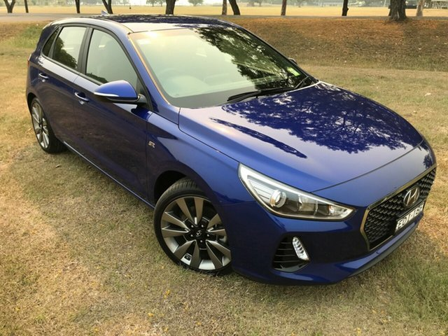 Demo Hyundai i30 PD2 MY18 SR D-CT, 2018 Hyundai i30 PD2 MY18 SR D-CT Intense Blue 7 Speed Sports Automatic Dual Clutch Hatchback