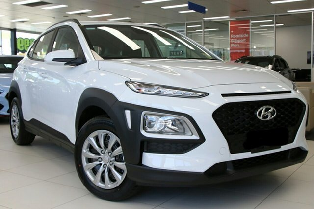 New Hyundai Kona OS.3 MY20 Go 2WD, 2019 Hyundai Kona OS.3 MY20 Go 2WD Chalk White 6 Speed Sports Automatic Wagon