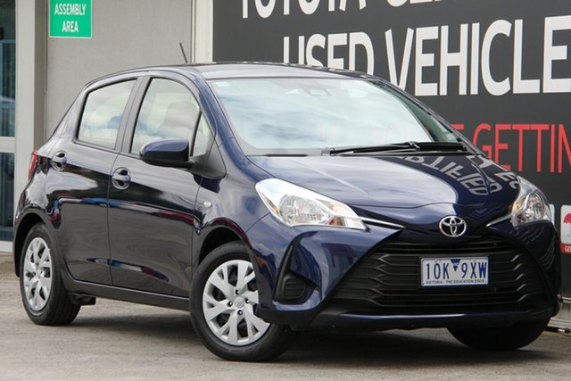 Used Toyota Yaris NCP130R Ascent, 2018 Toyota Yaris NCP130R Ascent Dynamic Blue 4 Speed Automatic Hatchback