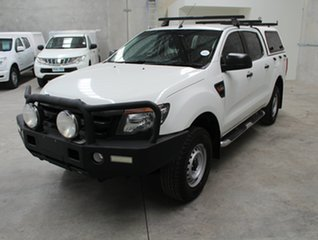 2014 Ford Ranger PX XL Double Cab 4x2 Hi-Rider White 6 speed Automatic Utility