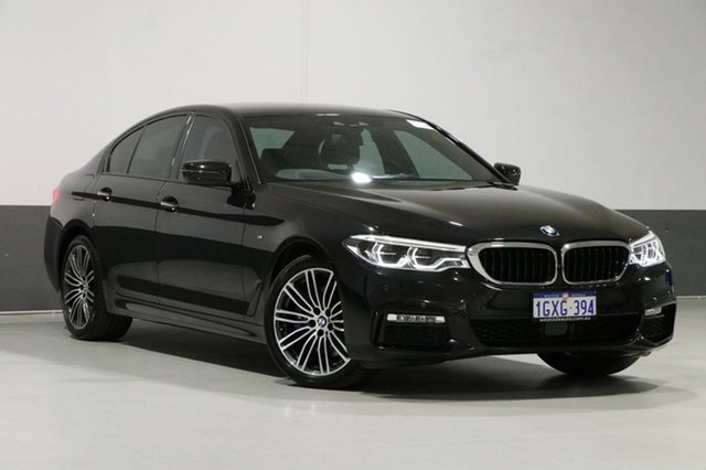 Used BMW 530i G30 MY17 M Sport, 2018 BMW 530i G30 MY17 M Sport Sapphire Black 8 Speed Automatic Sedan