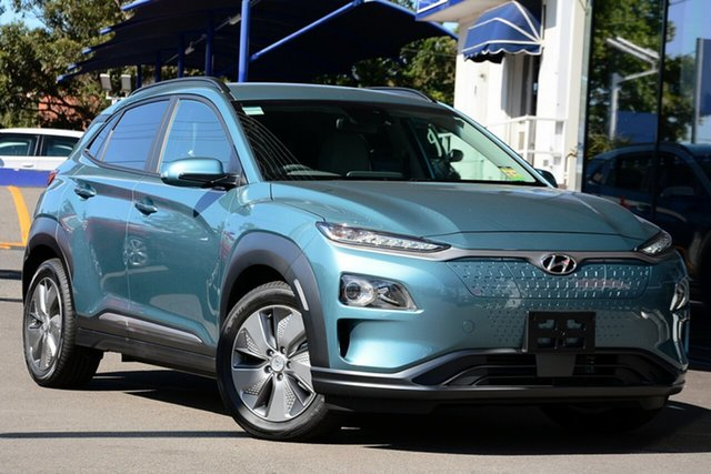 New Hyundai Kona OS.3 MY19 electric Elite, 2019 Hyundai Kona OS.3 MY19 electric Elite Ceramic Blue 1 Speed Reduction Gear Wagon