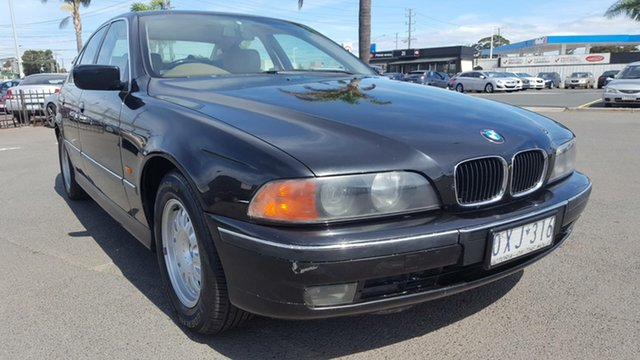 Used BMW 5 Series E39 528i Steptronic, 1998 BMW 5 Series E39 528i Steptronic Black 5 Speed Sports Automatic Sedan
