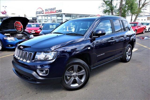 Used Jeep Compass MK MY15 North CVT Auto Stick, 2014 Jeep Compass MK MY15 North CVT Auto Stick Blue 6 Speed Constant Variable Wagon
