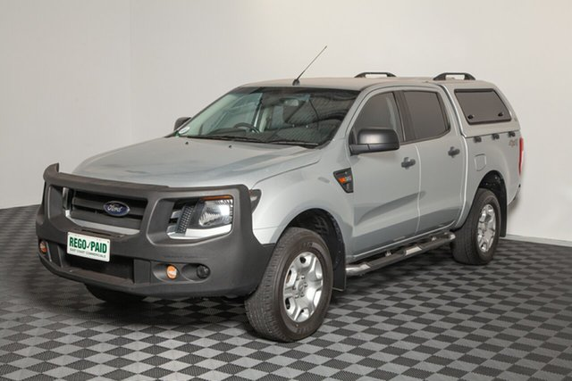 Used Ford Ranger PX XL Double Cab, 2015 Ford Ranger PX XL Double Cab Highlight Silver 6 Speed Sports Automatic Utility