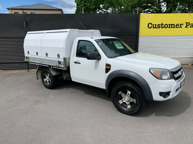 Used Ford Ranger PK XL, 2010 Ford Ranger PK XL White 5 Speed Manual Cab Chassis